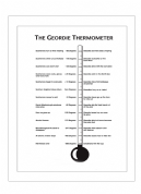 Geordie Thermometer Design Teatowel